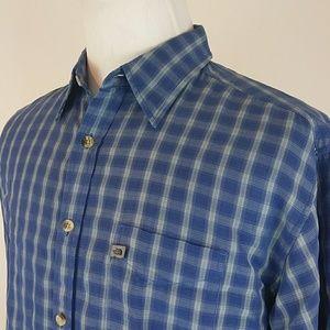 The North Face Mens Shirt L Blue Checks